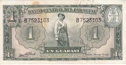 BILLETE DE PARAGUAY DE 1 GUARANI DEL AÑO 1952   (BANKNOTE) PICK 185 - Paraguay