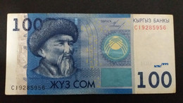 BILLETE DE KIRGUISTAN DE 100 COM DEL AÑO 2009  (BANKNOTE) - Kyrgyzstan