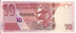 ZIMBABWE 10 DOLLARS 2020 UNC P New - Zimbabwe