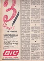 (pagine-pages)PUBBLICITA' BIC  Epoca1953/154r. - Altri