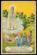 Postal PUBLICITARIO Portugues. Nossa Senhora De Fatima, Com PUBLICIDADE Remedio ASPIRINA BAYER Portugal - Porto