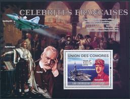 NB - [39700]TB//**/Mnh-c:21e-Comores 2009 - BL180, Personnalités Française, Général Charles De Gaulle, Porte-Avions. - Aerei