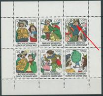 DDR 1977 Märchen 2281/86 K 10 C II Mit Plattenfehler 2283 II Postfrisch (G7953) - Engraving Errors