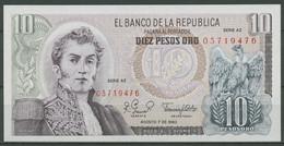 Kolumbien 10 Pesos 7.8.1980, KM 407 G Kassenfrisch (K541) - Colombia