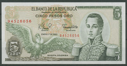Kolumbien 5 Pesos 1.1.1980, KM 406 F Kassenfrisch (K539) - Colombia