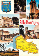 62 - Billy Montigny - Multivues - Carte Géographique - Blasons - CPM - Voir Scans Recto-Verso - Andere Gemeenten
