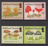 2014 Falkland Islands Mushrooms Fungi  Complete Set Of 4  MNH - Islas Malvinas