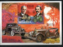 Nicaragua Bl. 211 Mnh Ford Mercedes Auto Car Voiture - Nicaragua