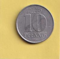 10 Pfennig - 1965 A - D.D.R . - R.D.A. - Allemagne De L'Est - - 10 Pfennig