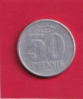 50 Pfennig - 1958 A - D.D.R . - R.D.A. - Allemagne De L'Est - - 50 Pfennig