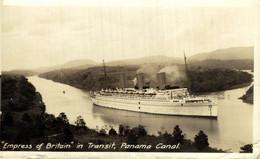 RPPC  EMPRESS OF BRITAIN  IN TRANSIT PANAMA CANAL  CARTE PHOTO - Passagiersschepen