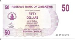 ZIMBABWE 50 DOLLARS BEARER CHEQUE 2006 AUNC P 41 - Zimbabwe