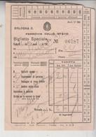 Biglietto Ticket Buillet Speciale Ferrovie Dello Stato Regno 1940 Bologna  Levico - Europe