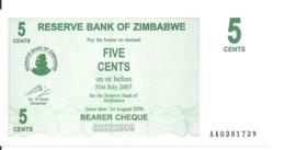 ZIMBABWE 5 CENTS 2006 UNC P 34 - Zimbabwe