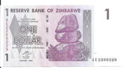ZIMBABWE 1 DOLLAR  2007 UNC P 65 - Zimbabwe