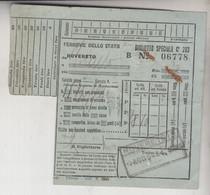 Biglietto Ticket Buillet Biglietto Ticket  Ferrovie Dello Stato Rovereto   Trento Regno 1940 - Europe