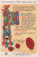 SIENA - CARTOLINA PUBBLICITARIA PREMIATA FABBRICA DI PANFORTE GIOVANNI PARENTI FONDATA NEL 1829 - Siena