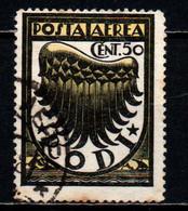 ITALIA - RODI - 1934 - ALA STILIZZATA - FILIGRANA CORICATA - USATO - Aegean (Rodi)