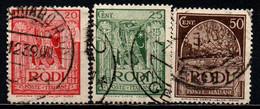 ITALIA - RODI - 1932 - CROCIATO, GALERA, TOMBA DEL CROCIATO - USATI - Aegean (Rodi)