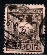 ITALIA - RODI - 1929 - GALERA - USATO - Aegean (Rodi)