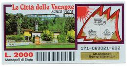 Gratta E Vinci - LE CITTA'  DELLE VACANZE - SANTA FIORA - - Lottery Tickets