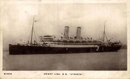 RPPC ORIENT LINE SS   OTRANTO  CARTE PHOTO - Paquebote