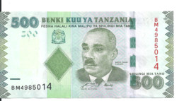 TANZANIE 500 SHILLINGI ND 2011 UNC P 40 - Tanzania