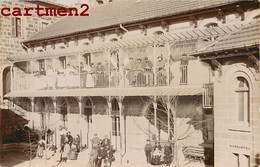CARTE PHOTO : LANGEAC HOPITAL MILITAIRE HOSPICE GUERRE SOLDATS MILITAIRES INFIRMIERE AUXILIAIRE 1915 HAUTE-LOIRE - Langeac
