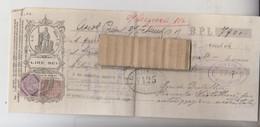 ASCOLI PICENO CAMBIALE B.P.L. CON MARCHE DA BOLLO 1915 CON GIRATE E FIRME - Cheques & Traveler's Cheques