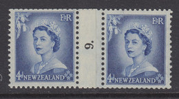New Zealand, CP NC3d, MLH Counter Coil Number Pair (pencil ID On Gum) - Ungebraucht