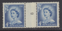 New Zealand, CP NC4b, MNH Counter Coil Number Pair (pencil ID On Gum) - Ungebraucht