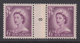 New Zealand, CP NC4c, MHR Counter Coil Number Pair (pencil ID On Gum) - Ungebraucht