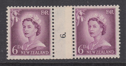 New Zealand, CP NC4c, MNH Counter Coil Number Pair (pencil ID On Gum) - Ungebraucht