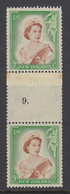 New Zealand, CP NC6a, MLH Counter Coil Number Pair (pencil ID On Gum) - Ungebraucht