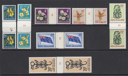 New Zealand, CP ODC4-ODC13, MNH Counter Coil Number Pairs - Ungebraucht