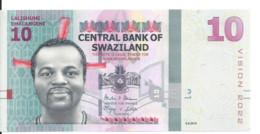 SWAZILAND 10 EMALANGENI 2015 UNC P 41 - Swaziland