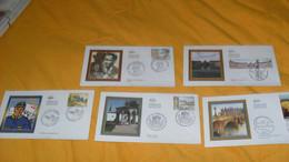 LOT 5 ENVELOPPES FDC DIVERS DE 2009../ BORDEAUX GIRONDE, MEMORIAL JEAN MOULIN, BATIE D'URFE,  CHRISTO ET JEANNE CLAUDE L - 2000-2009