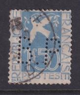 Perforé/perfin/lochung France 1934 No 294 B.P. Banque Privée Ou Biscuits Pernod - Perforés