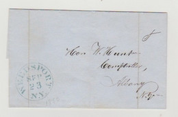 USA- Letter Originated In WEEDSPOST On Sept.23 1850 And Mailed To ALBANY,NY - 1845-47 Emissioni Provinciali