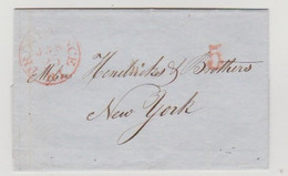 USA- Letter Originated In PROVIDENCE,RI On June.23 1848 And Mailed To NEW YORK,NY - 1845-47 Emissioni Provinciali