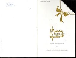 MENU  EXPO PHILATELIQUE DE LA GARENNE COLOMBES 1968 - - Exposiciones Filatélicas