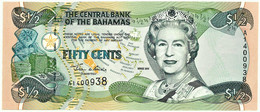 Bahamas - 50 Cents - 1/2 Dollar - 2001 - Pick: 68 - Unc. - Serie A - Queen Elizabeth II - Bahamas