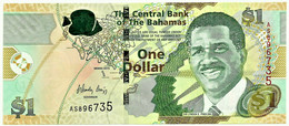 Bahamas - 1 Dollar - 2015 - Pick: 71A - Unc. - Serie AS - Sir Lynden O. Pindling - Bahamas