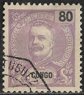 Portuguese Congo – 1898 King Carlos 80 Réis Used Stamp - Portugees Congo