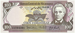 Nicaragua - 100 Córdobas - D. 1984 ( 1985 ) - Unc. - Pick 141 -  Serie F - Nicaragua