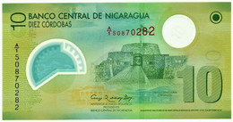 Nicaragua - 10 Córdobas - 12.09.2007 ( 2012 ) - Unc. - Pick 201.b -  Serie A/1 - POLYMER Plastic - Nicaragua