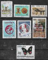 1988-98 Costa Rica Instituto Meteorologico-desc. De America-upae-cruz Roja-banco-canton De Grecia S.s.-mariposa 7v. - Costa Rica