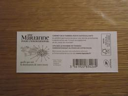(2021) - Carnet 6 VP / Lettre Internationale - Une Marianne Pour L'International - Definitives