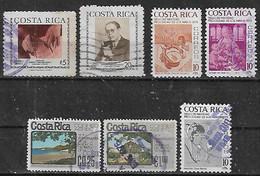 1974-5 Costa Rica Brenes Mesen-partido De Nicoya-navidad 7v. - Costa Rica