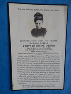 GENEALOGIE FAIRE PART DECES  DEROO MERRIS 1851 1931 - Avvisi Di Necrologio